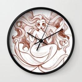 Goldfish Mermaid Wall Clock