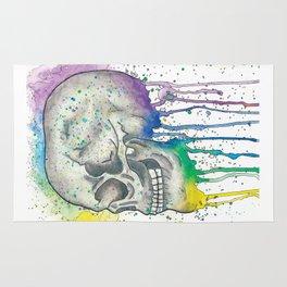 Watercolor Skull Rug
