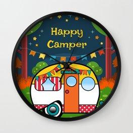 Happy Camper Retro RV Wall Clock
