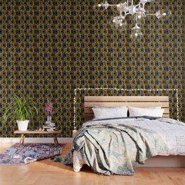 Gold and silver hexagonal composition Wallpaper
