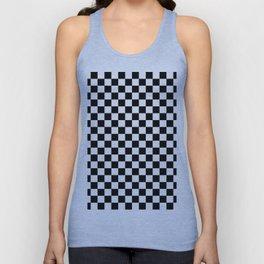 Checker (Black & White Pattern) Unisex Tank Top