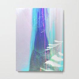 Abstract landscape sweep blue aqua purple Metal Print