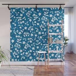 Hummingbird's Garden: wildflowers Wall Mural