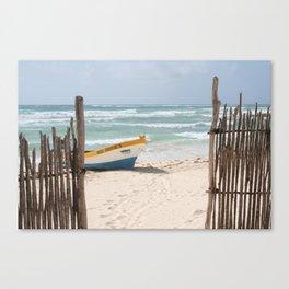 Mexi Diver's Boat Canvas Print