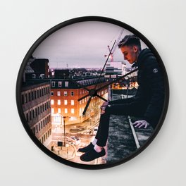 Roof tops Wall Clock