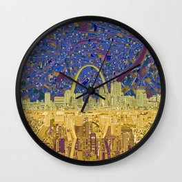 st louis city skyline Wall Clock