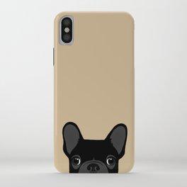 French Bulldog - Black on Tan iPhone Case