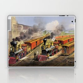 American Railroad Scene (Currier & Ives) Laptop & iPad Skin