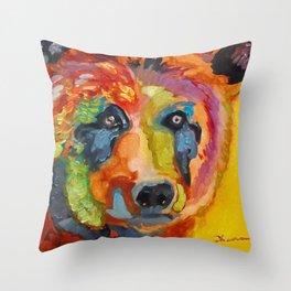 Bear B Throw Pillow