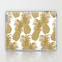 Gold Pineapples Laptop & iPad Skin