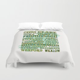 32 Counties Of Ireland Duvet Cover