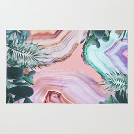 Mineral Agates & Garden #Glam collection Rug
