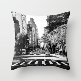 New York City Streets Contrast Throw Pillow