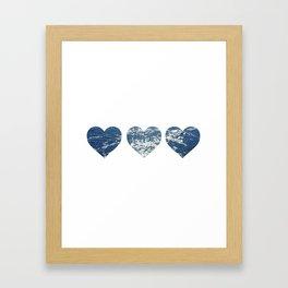 Ocean Hearts Framed Art Print
