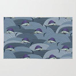 Swordfish Espadon | Pattern Art Rug