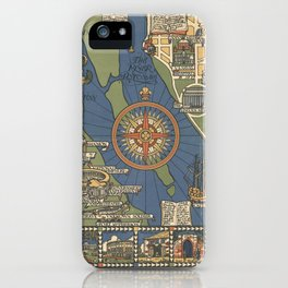 Art Deco Map iPhone Case