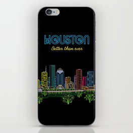Houston Better Than Ever Circuit iPhone Skin
