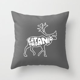 Eat Organic Throw Pillow