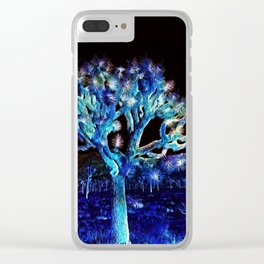 Joshua Tree VG Hues by CREYES Clear iPhone Case