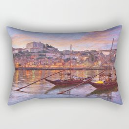 Porto at dusk Rectangular Pillow