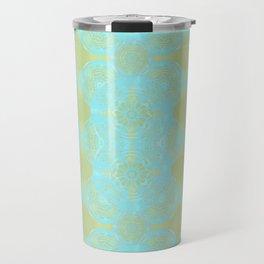 turquoise lace Travel Mug