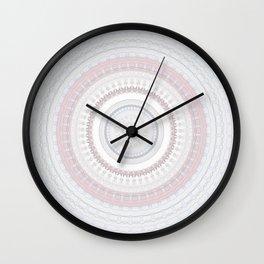 Elegant Pink Stone Mandala Wall Clock