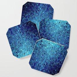 Deep blue glass mosaic Coaster