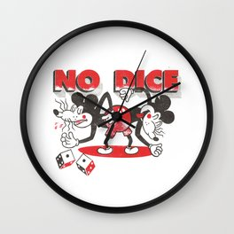 No Dice Wall Clock