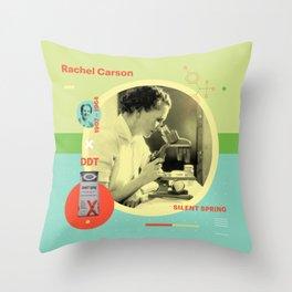 Beyond Curie: Rachel Carson Throw Pillow