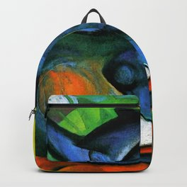 """Franz Marc """"Two Cats, Blue and Yellow' Backpack"""