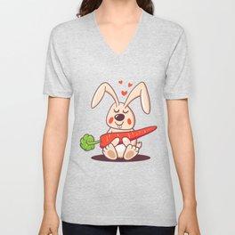 Happy bunny Unisex V-Neck