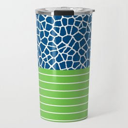 staklo (blue with green) Travel Mug