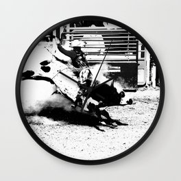 Bull Riding Champ Wall Clock