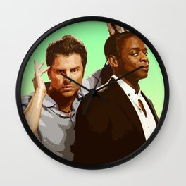 Shawn and Gus (Psych) Wall Clock