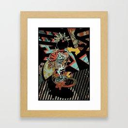 Yakuza girl Framed Art Print