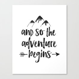 And So The Adventure Begins Sign,Adventure Awaits,Adventure Nursery,Kids Room Decor,Quote Posters,Pr Canvas Print