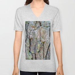 Tree Bark Unisex V-Neck