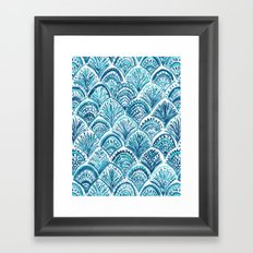 NAVY LIKE A MERMAID Framed Art Print