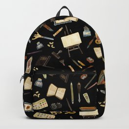Creative Artist Tools - Watercolor on Black Backpack