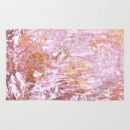 Abstract Autumn In Gold-Rosé Rug