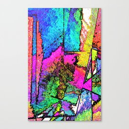 Scraped Away Canvas Print