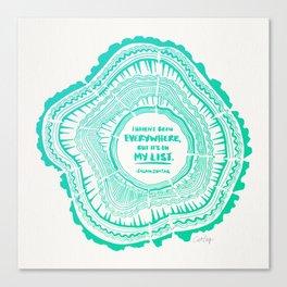 My List – Turquoise Ombré Canvas Print