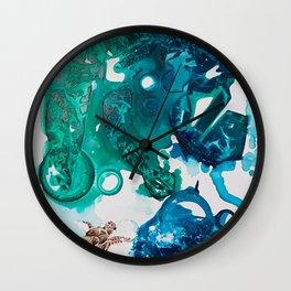 Turtle Exploring the Great Deep Blue Sea Wall Clock
