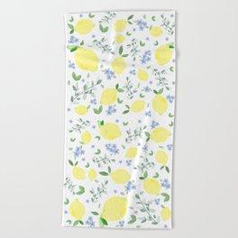 Fresh Lemon Serenade Beach Towel