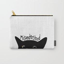 Black Cat Misunderstood Carry-All Pouch