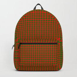Classic Christmas Red and Green Houndstooth Check pattern Backpack