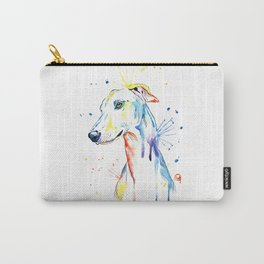 Greyhound Colorful Watercolor Pet Portrait Painting Carry-All Pouch