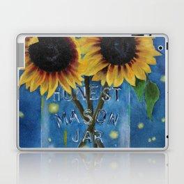 Lightning Bugs and Sunflowers Laptop & iPad Skin