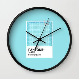 Pantone Series – Summer Swim Wall Clock