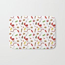 Grilling - BBQ Doodle Pattern Bath Mat